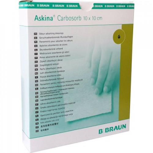 Askina Carbosorb / Аскина Карбосорб - углесодержащая раневая повязка, 10х20 см