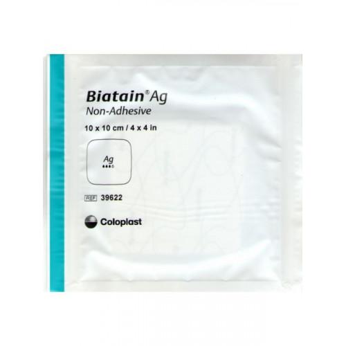 Biatain Ag / Биатен Аг - губчатая неадгезивная повязка с серебром, 15х15 см