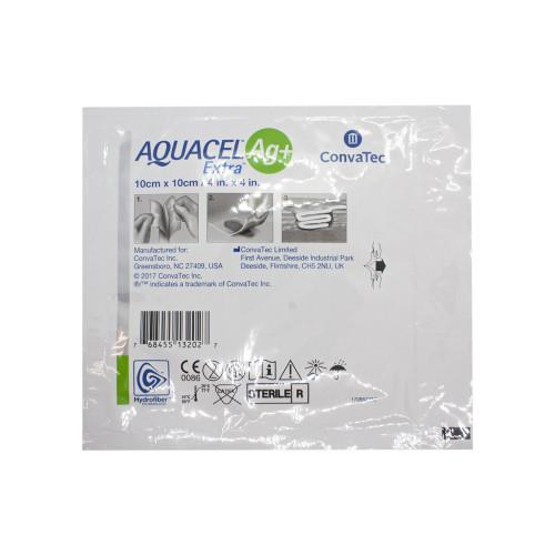Aquacel Extra Ag + / Аквасель Экстра Аг + с серебром - усиленная абсорбирующая повязка с серебром, 10x10 см