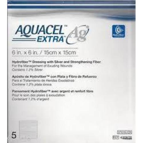 Aquacel Extra Ag / Аквасель Экстра Аг с серебром - абсорбирующая повязка с серебром, 15x15 см