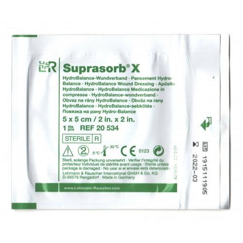 Suprasorb X / Супрасорб Х - гидросбалансированная повязка для инфицированных и гнойных ран, 5x5 см