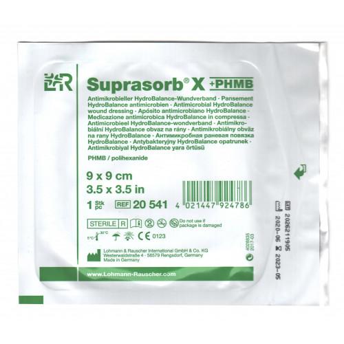 Suprasorb X PHMB / Супрасорб Х с ПГМБ - гидросбалансированная повязка для гнойных ран, 9x9 см