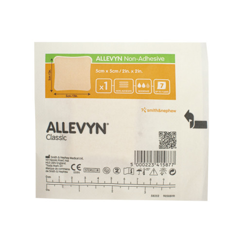 Allevyn Non Adhesive / Аллевин Неадгезив - губчатая неадгезивная повязка, 5x5 см