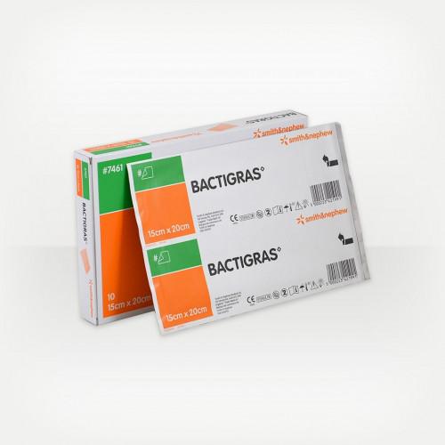 Bactigras / Бактиграс - марлевая повязка с хлоргексидина ацетатом, 15x20 см