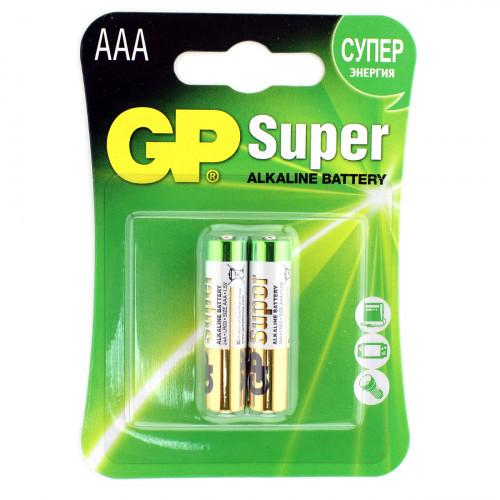 GP Super Alkaline / ДжиПи Супер - батарейка, AAA, 1,5V, 2 шт.