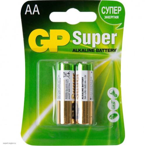 GP Super Alkaline / ДжиПи Супер - батарейка, AA, 1,5V, 2 шт.