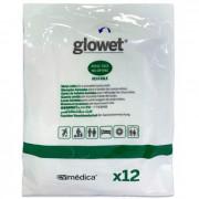 Abena / Абена - рукавицы, влажные, пропитанные моющим лосьоном Glowet, одноразовые, 25x17 см, 12 шт.