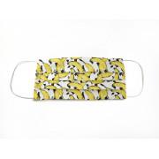 Маска защитная для лица тканевая многоразовая, бананы
