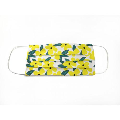 Маска защитная для лица тканевая многоразовая, цветы