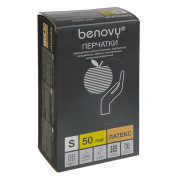 BenovyLatexChlorinated / Бенови -перчаткилатексные,неопудренные, текстурированные,бежевые,S,50пар