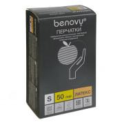 [недоступно] BenovyLatexChlorinated / Бенови -перчаткилатексные,неопудренные, текстурированные,бежевые,M,50пар
