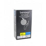 Benovy Nitrile Chlorinated / Бенови - перчатки нитриловые, неопудренные, текстурированные, голубые, L, 200шт. / 100 пар