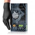 Benovy Nitrile MultiColor / Бенови - перчатки нитриловые, текстурированные на пальцах, черные, M, 50 пар