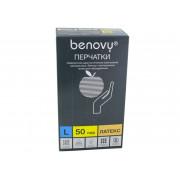 Benovy / Бенови - латексныеперчатки без пудры, L, 100 шт