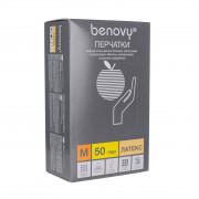 [недоступно] Benovy / Бенови- латексныеперчатки без пудры, M, 100 шт