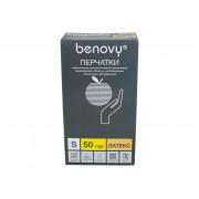 [недоступно] Benovy / Бенови- латексныеперчатки без пудры, S, 100 шт