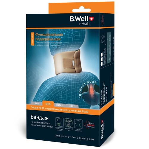 B.Well W-121 / Би Велл - бандаж на шейный отдел позвоночника, M, бежевый