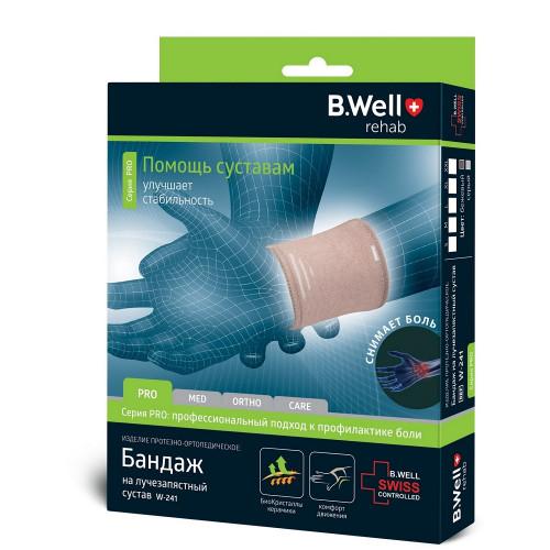 B.Well W-241 / Би Велл - бандаж на лучезапястный сустав, S, бежевый
