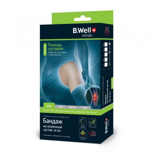 B.Well W-331 / Би Велл - бандаж на коленный сустав, L, бежевый
