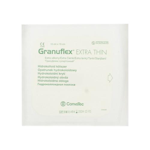 Granuflex Xthin / Грануфлекс Супертонкий - гидроколлоидная повязка, 15х15 см