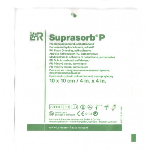 Suprasorb P / Супрасорб П - полиуретановая адгезивная губчатая повязка, 10x10 см