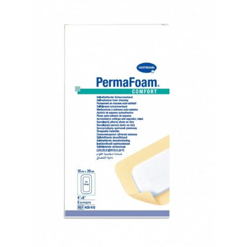 PermaFoam Comfort / ПемаФом Комфорт - губчатая адгезивная повязка, 10x20 см