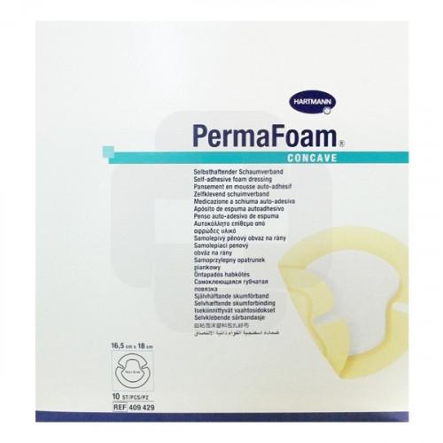 PermaFoam Concave / ПемаФом Конкейв - губчатая повязка на пятку, 16,5x18 см