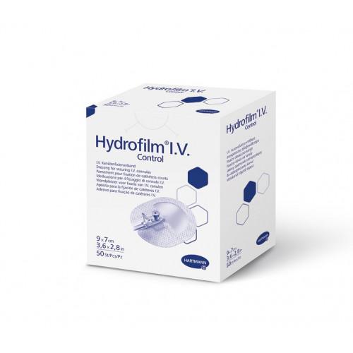 Hydrofilm I.V. Control / Гидрофилм Ай Ви Контрол - пленочная повязка для фиксации катетеров, 9x7 см