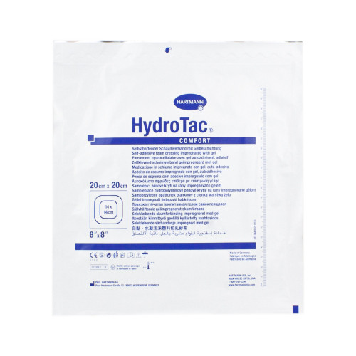 HydroTac Comfort / ГидроТак Комфорт - самоклеящаяся губчатая повязка с гидрогелевым покрытием, 20x20 см