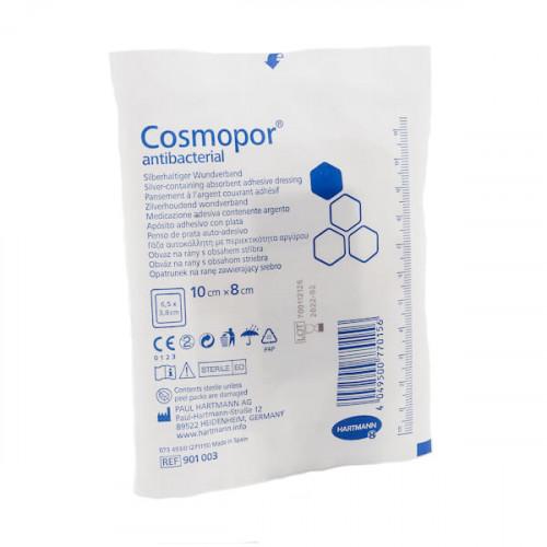 Cosmopor Antibacterial / Космопор Антибактериал - самоклеящаяся повязка с серебром, 10х8 см