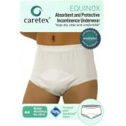 Caretex Equinox / Кертекс Эквинокс - мужские многоразовые впитывающие трусы, M, белые