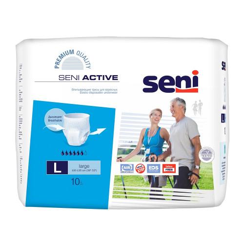 Seni Active / Сени Актив - впитывающие трусы для взрослых, размер L, 10 шт.