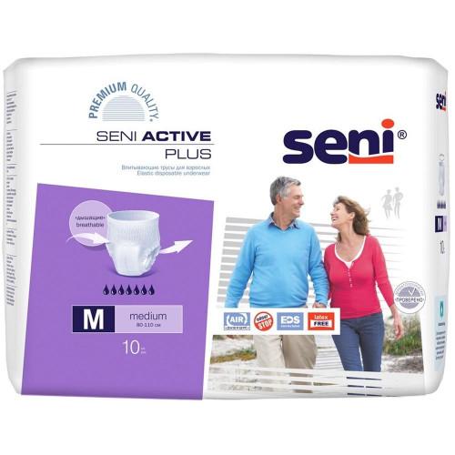 Seni Active Plus / Сени Актив Плюс - впитывающие трусы для взрослых, M, 10 шт.