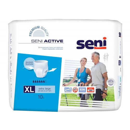 Seni Active / Сени Актив - впитывающие трусы для взрослых, размер XL, 10 шт.