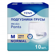 Tena Pants Normal Proskin / Тена Пантс Нормал - впитывающие трусы, M, 10 шт.