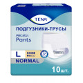Tena Pants Normal / Тена Пантс Нормал - впитывающие трусы, L, 10 шт.