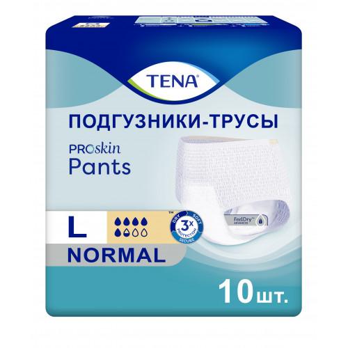Tena Pants Normal Proskin / Тена Пантс Нормал - впитывающие трусы, L, 10 шт.