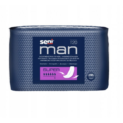 Seni Man Super / Сени Мен Супер - урологические вкладыши для мужчин, 20 шт.