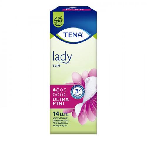 Tena Lady Ultra Mini / Тена Леди Ультра Мини - урологические прокладки для женщин, 14 шт.