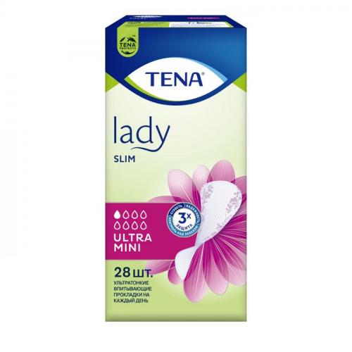 Tena Lady Slim Ultra Mini / Тена Леди Слим Ультра Мини - урологические прокладки для женщин, 28 шт.