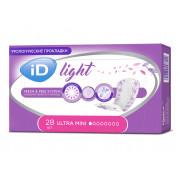 iD Light Ultra Mini / АйДи Лайт Ультра Мини - урологические прокладки для женщин, 28шт.