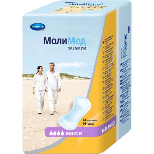 MoliMed Premium Maxi / МолиМед Премиум Макси - урологические прокладки для женщин, 14 шт.
