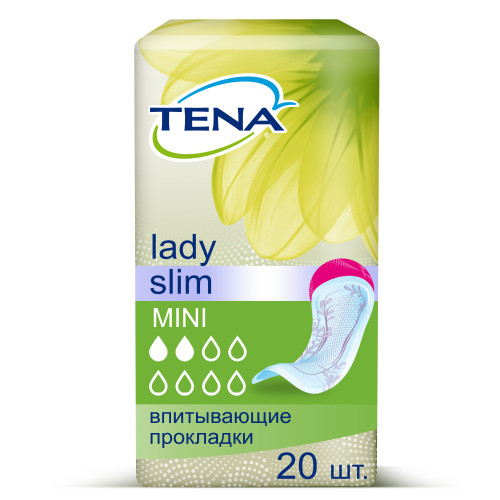 Tena Lady Slim Mini / Тена Леди Слим Мини – урологические прокладки для женщин, 20 шт.