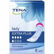 Tena Lady Extra Plus / Тена Леди Экстра Плюс - урологические прокладки для женщин, 8 шт.
