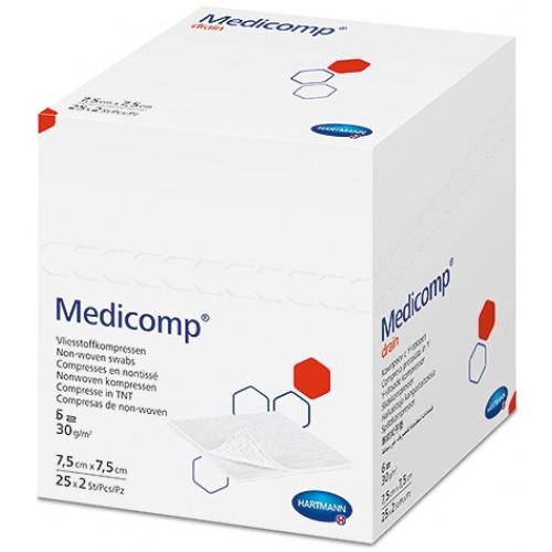 Medicomp Drain Steril / Медикомп Драйн Стерил - стерильная салфетка с вырезом для катетеров и канюль, 7,5х7,5 см, 2 шт.