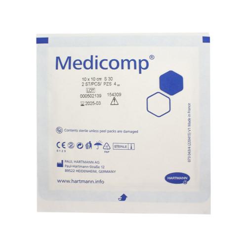 Medicomp / Медикомп - стерильная нетканая салфетка, 10x10 см, 2 шт.
