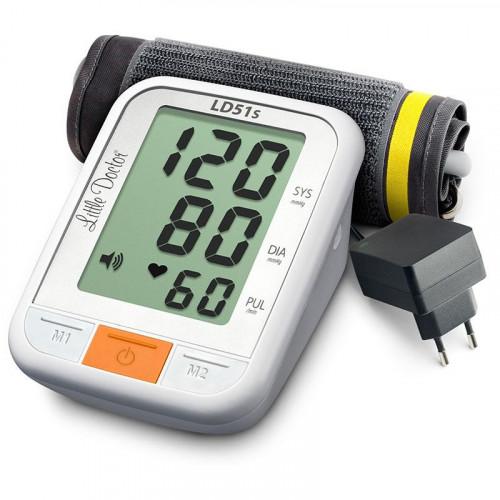 Little Doctor LD51S / Литтл Доктор - автоматический тонометр на плечо, с голосовым сопровождением, с адаптером и увеличенным дисплеем