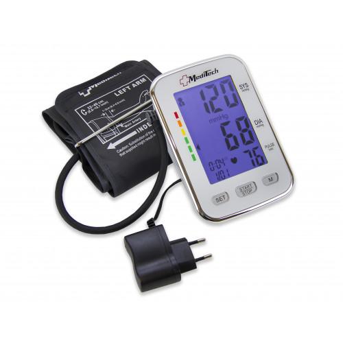 MediTech MT-50 / Медитек - тонометр автоматический, для 2-х пользователей, с подсветкой, с манжетой 22-40 см, с адаптером