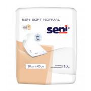 Seni Soft Normal / Сени Софт Нормал - одноразовые впитывающие пелёнки, 90x60 см, 10 шт.
